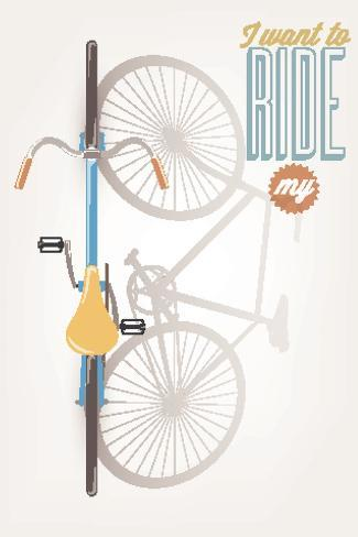 It'S A Good Day To Have A Good Day - Typographical Illustration Bicycle Poster Kunstdruck