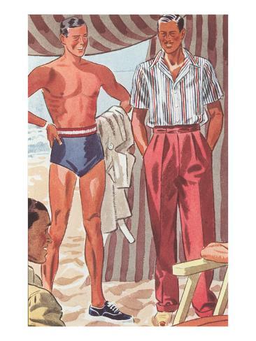 Men Modeling Clothes Kunstdruck