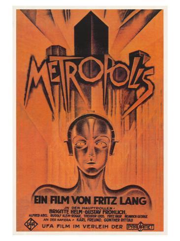 Metropolis, Brazilian Movie Poster, 1926 Kunstdruck