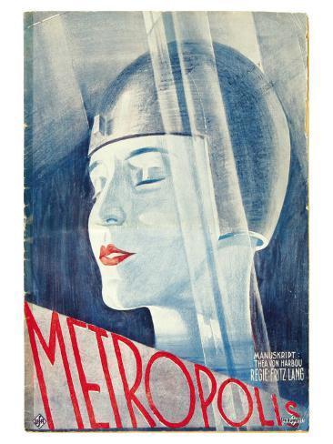 Metropolis, German Movie Poster, 1926 Kunstdruck