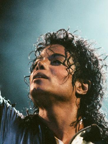 Michael Jackson in Concert at Milton Keynes, September 10, 1988 Fotografie-Druck