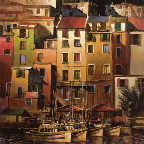 Goldenes Mittelmeer Kunstdruck