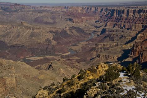 Colorado River, Desert View, South Rim, Grand Canyon NP, Arizona, USA Fotografie-Druck