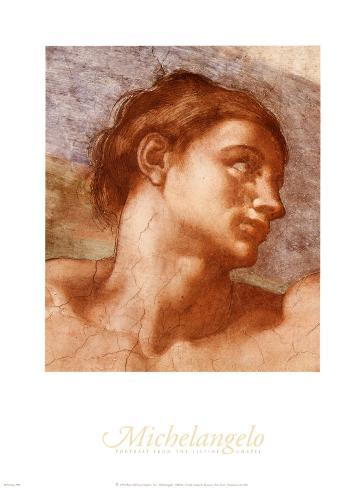 Sixtinische Kapelle Adam Kunstdruck von Michelangelo Buonarroti