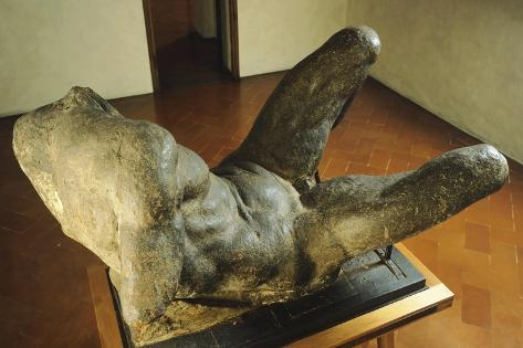 Model for the Personification of River for the New Sacristy of San Lorenzo Giclée-Druck