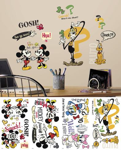 Mickey Mouse Muursticker.Mickey Friends Mickey Mouse Cartoons Peel And Stick Wall Decals