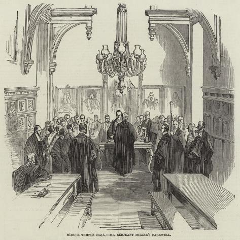 Middle Temple Hall, Mr Serjeant Miller's Farewell Giclée-Druck