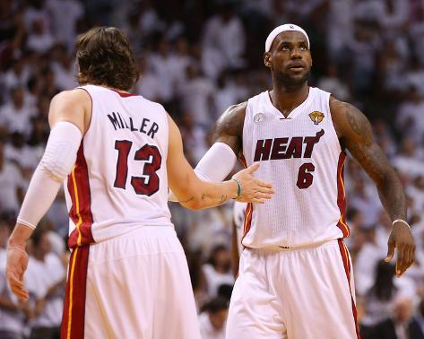 Miami, FL - June 20: LeBron James and Mike Miller Foto