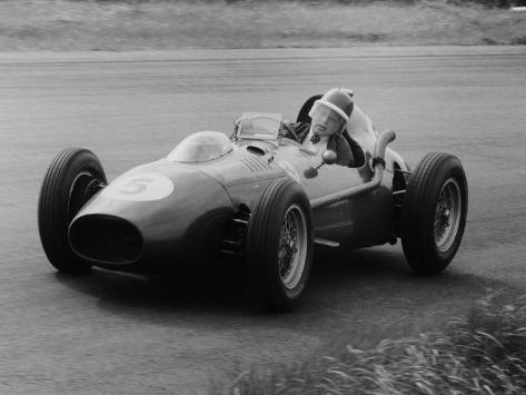 Mike Hawthorn in the Dutch Grand Prix, Zandvoort, 1958 Fotografie-Druck