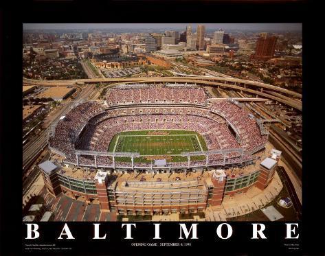 Baltimore: Erster Eröffnungstag im Raven-Stadion Kunstdruck