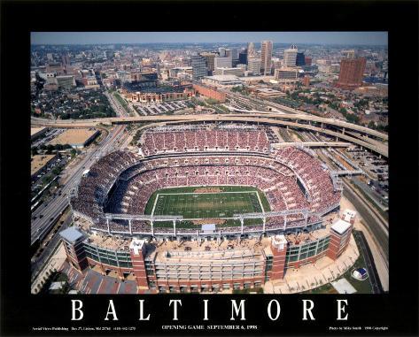 Baltimore: Erstes Spiel im Raven-Stadion bei Camden Yards Kunstdruck