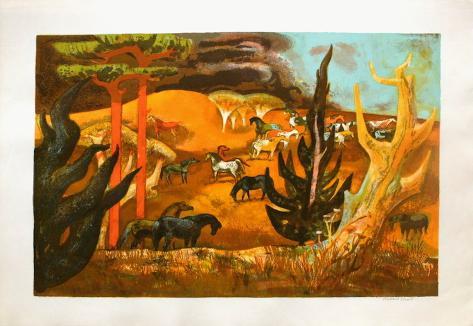 Chevaux sauvages en Californie Sammlerdrucke
