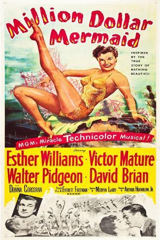 Million Dollar Mermaid Kunstdruck