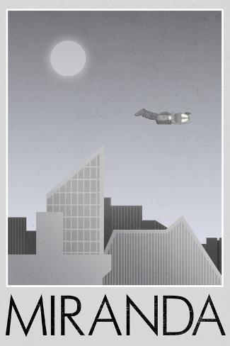 Miranda Retro Travel Poster Poster