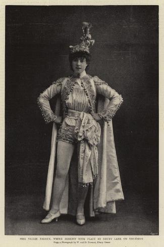 Miss Nellie Farren, Whose Benefit Took Place at Drury Lane on Thursday Giclée-Druck