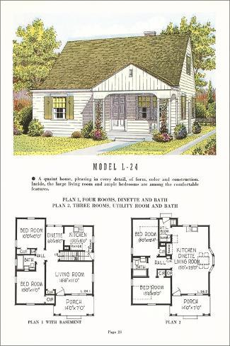 Model house and floor plan posters bij for Nl house plans