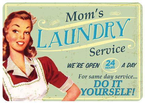 Moms Laundry Blechschild