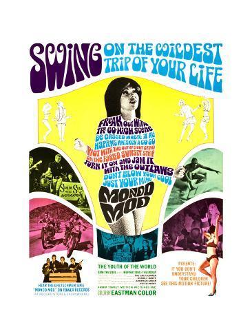MONDO MOD, poster art, 1967 Giclée-Premiumdruck