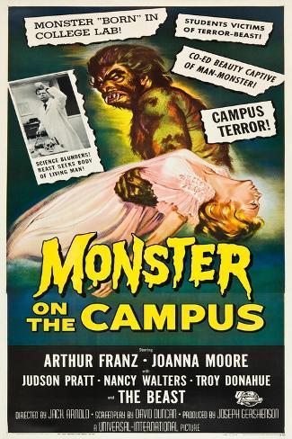 Monster on the Campus, 1958 Kunstdruck