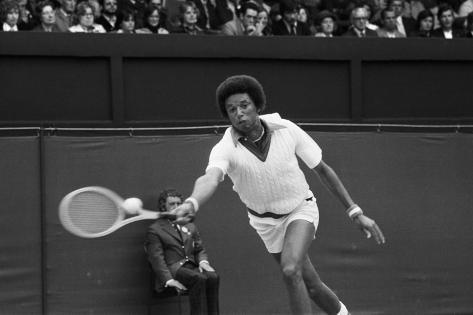 Arthur Ashe Wimbledon 1975 Fotografie-Druck