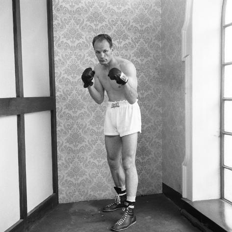 Henry Cooper Seen Here in Training at Bellingham 1963 Fotografie-Druck