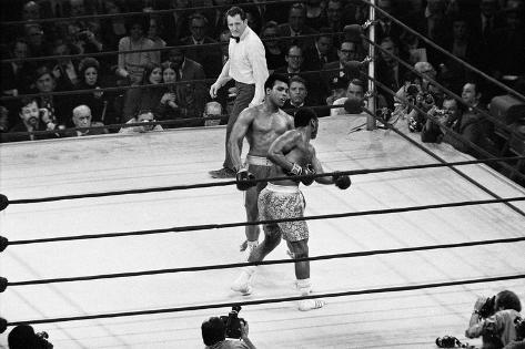 Muhammad Ali Vs Joe Frazier 1971 Fotografie-Druck