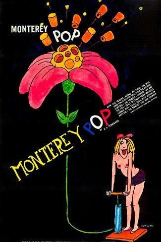 MONTEREY POP, poster art, 1968. Kunstdruck