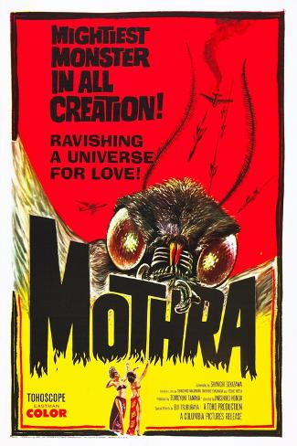 Mothra, poster art, 1961 Kunstdruck