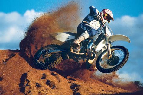 Motocross Bedruckte aufgespannte Leinwand