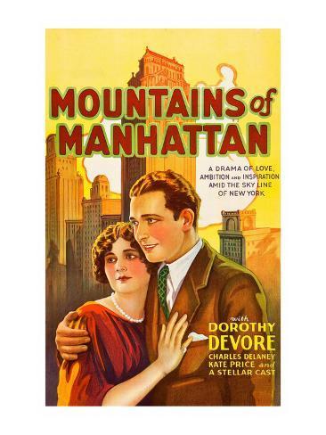 Mountains of Manhattan Kunstdruck