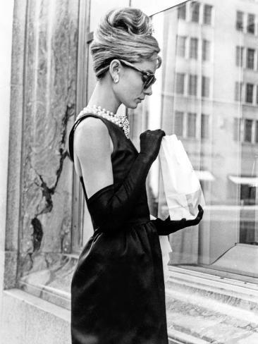 Audrey Hepburn Breakfast at Tiffany's Iconic Shot Foto