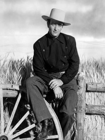 John Wayne in western von western Foto