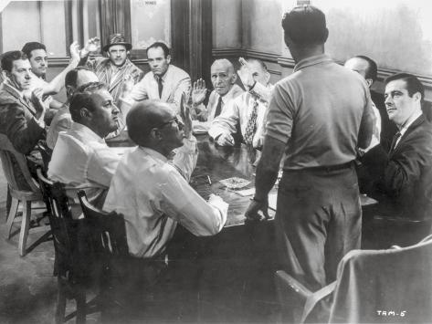 Twelve Angry Men Conference Room Scene Foto