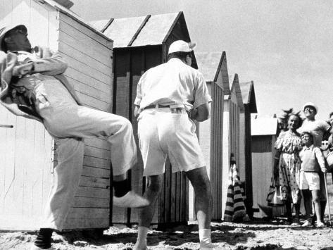 Mr. Hulot's Holiday, (aka Les Vacances De Monsieur Hulot), Jacques Tati, 1953 Foto