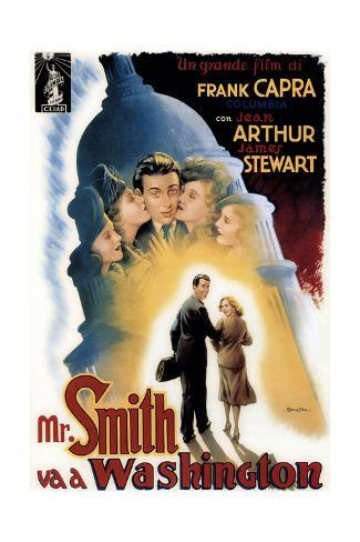 Mr. Smith Goes to Washington, (aka Mr. Smith Va a Washington), James Stewart, Jean Arthur, 1939 Giclée-Druck