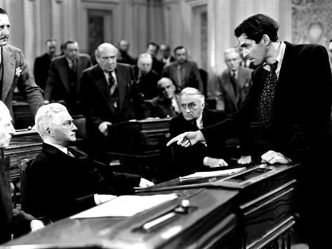 Mr. Smith Goes To Washington, Claude Rains, James Stewart, 1939, Senate Debate Foto