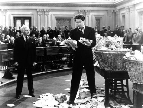 Mr. Smith Goes To Washington, Claude Rains, James Stewart, 1939 Foto