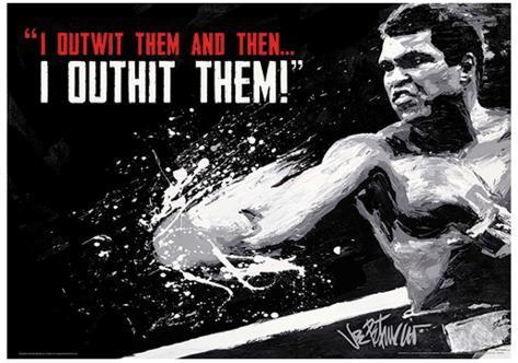 Muhammad Ali - Outwit Outhit Boxing Sports Poster Neuheit