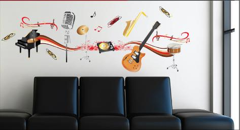 Muziekinstrumenten Muursticker