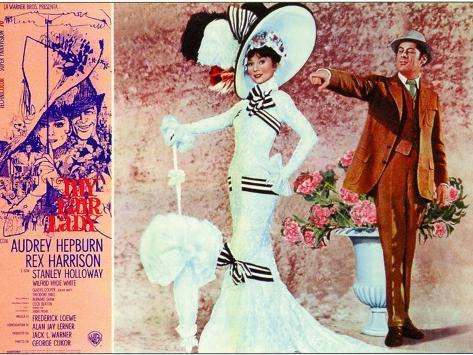 My Fair Lady, Italian Movie Poster, 1964 Kunstdruck