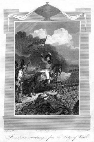 Napoleon Bonaparte Attempting to Force the Bridge of Arcola, 1816 Giclée-Druck