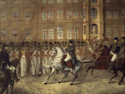 Napoleon in Leipzig Giclée-Druck