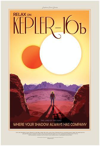 NASA/JPL: Visions Of The Future - Kepler-16B Poster