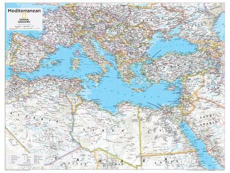 2014 Mediterranean Region - National Geographic Atlas of the World ...