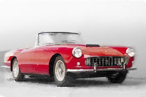 1960 Ferrari 250GT Pinifarina Watercolor Plastikschild