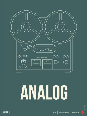 Analog Poster Plastikschild