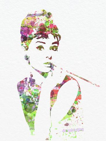Audrey Hepburn 2 Kunstdruck