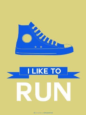 I Like to Run 2 Plastikschild
