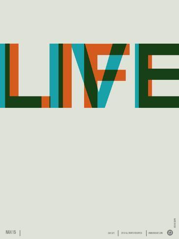 Live Life Poster 2 Plastikschild