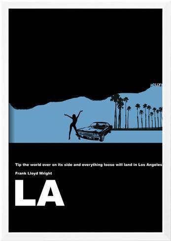 Los Angeles Poster Gerahmter Kunstdruck